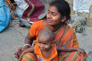 Люди, живущие в Калькутте на улице