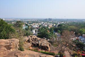 Вид от Удаягири на Бхубанешвар