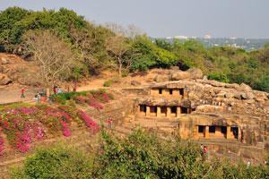 Вид сверху на Удаягири