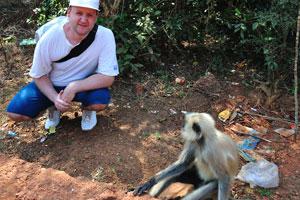 Я с лангуром (обезьяна)