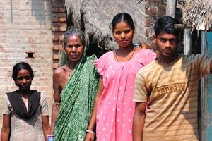 Индийская деревенская семья