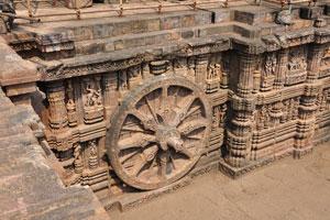 Колесо колесницы от храма Солнца