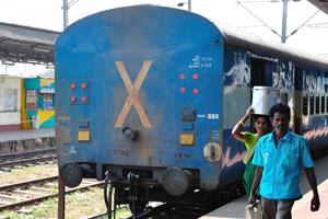 Вагон индийского поезда