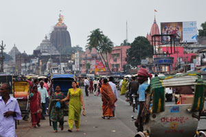 Вид с Большой дороги на храм Джаганнатха