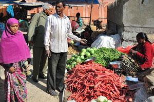 Овощной рынок у ворот Чандпол