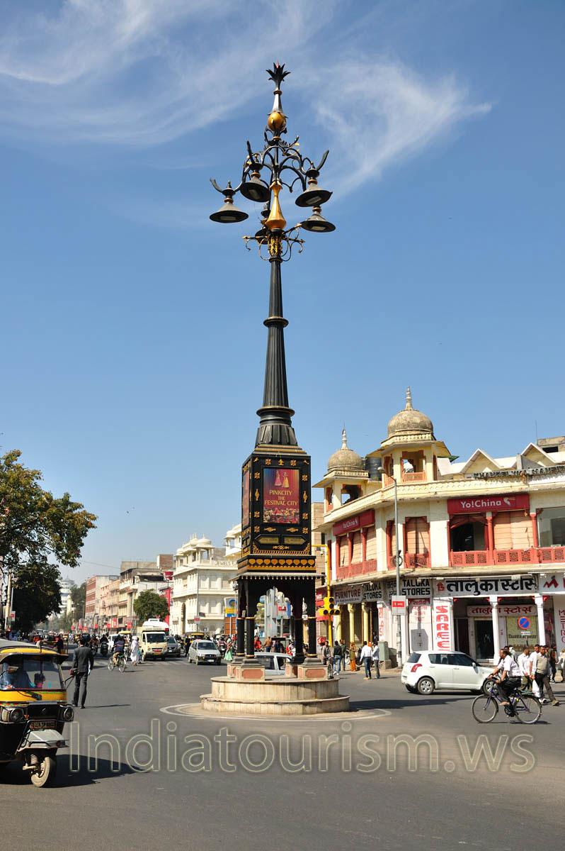 Panch Batti Circle Jaipur Rajasthan India