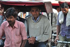 Лица Джайпура: пассажир велорикши