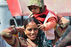 Лица Джайпура: мать с ребёнком