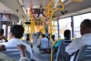 Современный автобус оборудован кондиционером
