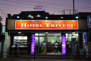 Вегетарианский ресторан отеля «Тривени» ночью