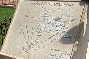 План Красного форта Агры