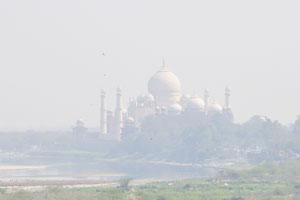 Вид из Джахангири Махал на Тадж Махал