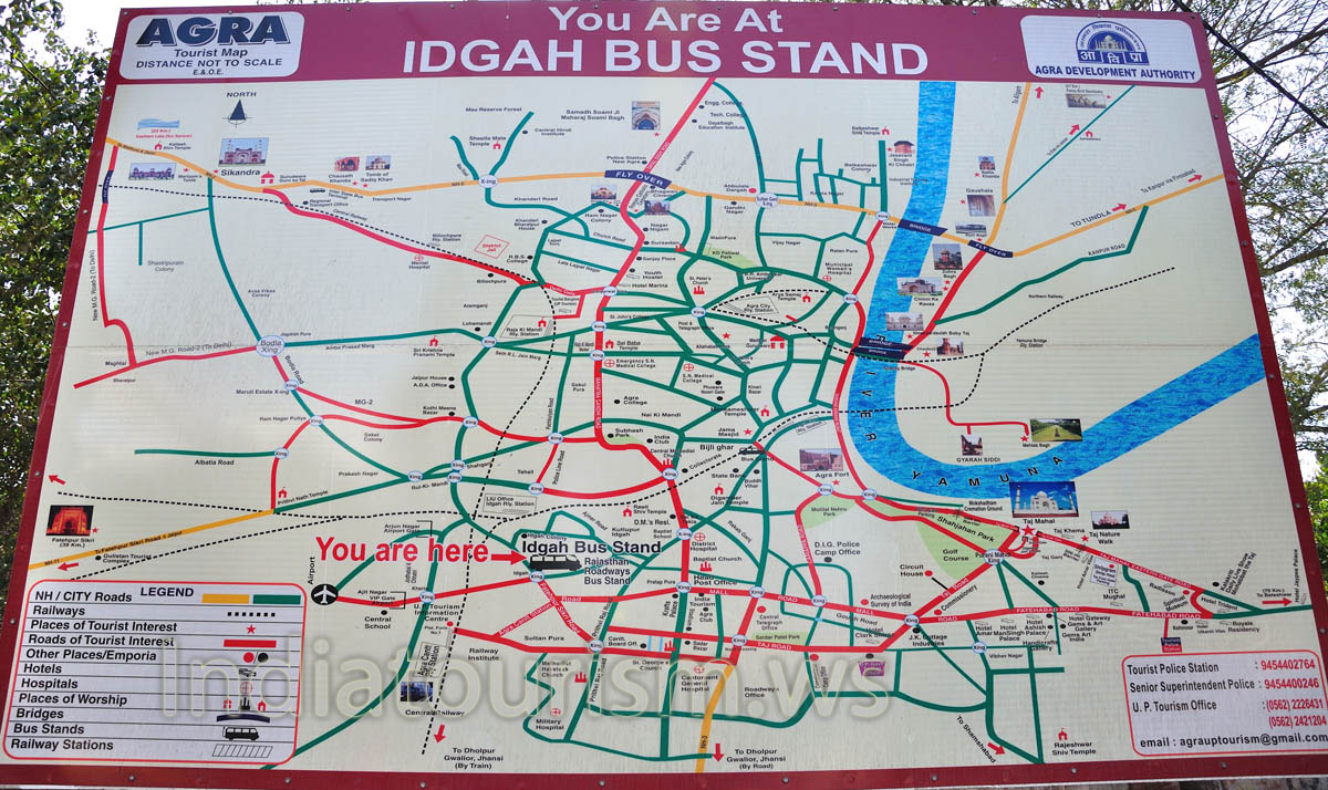 Huge Tourist Map at Idgah Bus Stand Miscellaneous pictures of Agra